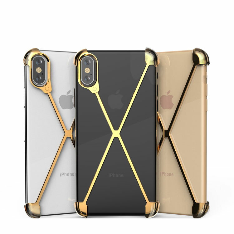 Apple iPhone XS Max アルミフレーム 4コーナーガード クロスフレーム かっこいい アイフォンXS マックス メタルケース/カバー スマホのアルミフレームー 耐衝撃 アップル おすすめ おしゃれ スマフォ スマホ スマートフォンケース/カバー