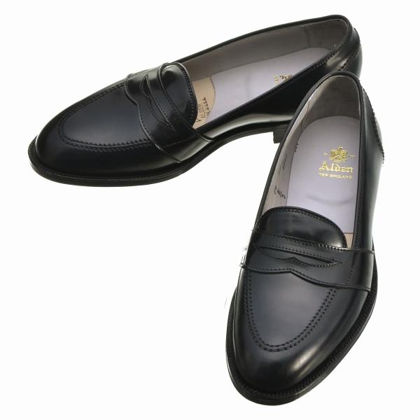 【SPECIAL SALE】オールデン/ALDEN シューズ メンズ FULL STRAP SLIP-ON フルストラップスリップオン ブラック 6845-0001-0001
