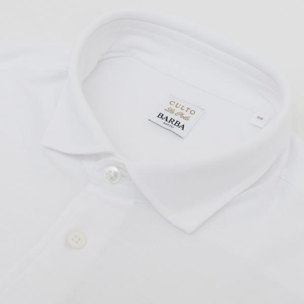 バルバ/BARBA シャツ メンズ CULTO カッタウェイシャツ WHITE 2018年春夏 60539-81400-815WHI