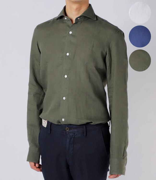 バルバ/BARBA シャツ メンズ DANDYLIFE リネンシャツ 2019年春夏新作 LIU136-5853