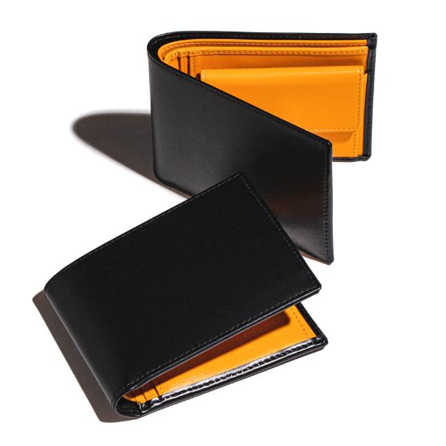 エッティンガー/ETTINGER 財布 メンズ Bridle Hide 2つ折り財布 ブラック 2019年春夏新作 BH141JR-0001-0001【スマートウォレット】