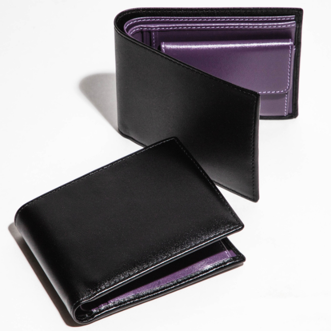 エッティンガー/ETTINGER 財布 メンズ STERLING 2つ折り財布 ブラック×パープル ST141JR-0002-0004