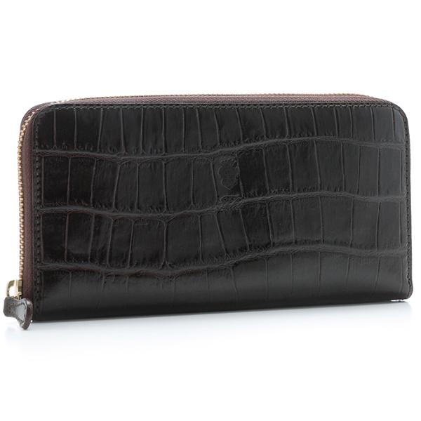フェリージ/FELISI 財布 メンズ 型押しカーフスキン ラウンドファスナー長財布 ダークブラウン 125-SA-SA0002