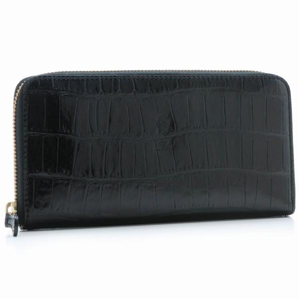 フェリージ/FELISI 財布 メンズ 型押しカーフスキン ラウンドファスナー長財布 ブラック 125-SA-SA0003