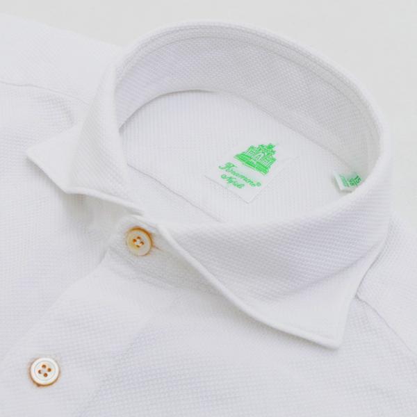 フィナモレ/FINAMORE シャツ メンズ TOKIO カジュアルシャツ WHITE 2018年春夏 SIMONE-080103-01WHI