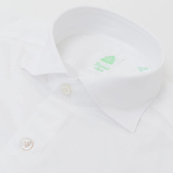 フィナモレ/FINAMORE シャツ メンズ TOKIO カッタウェイシャツ WHITE 2018年春夏 SIMONE-180008-01WHI
