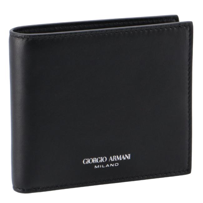アルマーニ メンズ 二つ折り財布 ジョルジオアルマーニ AL完売しました GIORGIO 返品不可 ARMANI 財布 ラムスキン Y2R122-YVA5E-80001 2021年春夏
