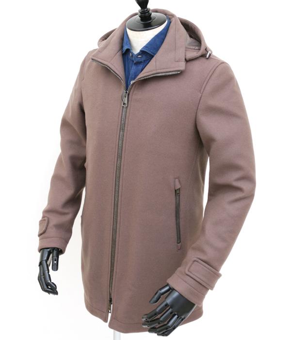 【秋冬】ヘルノ/HERNO コート メンズ フーデットウールダウンコート ベージュ  PC0048U-39601-2700