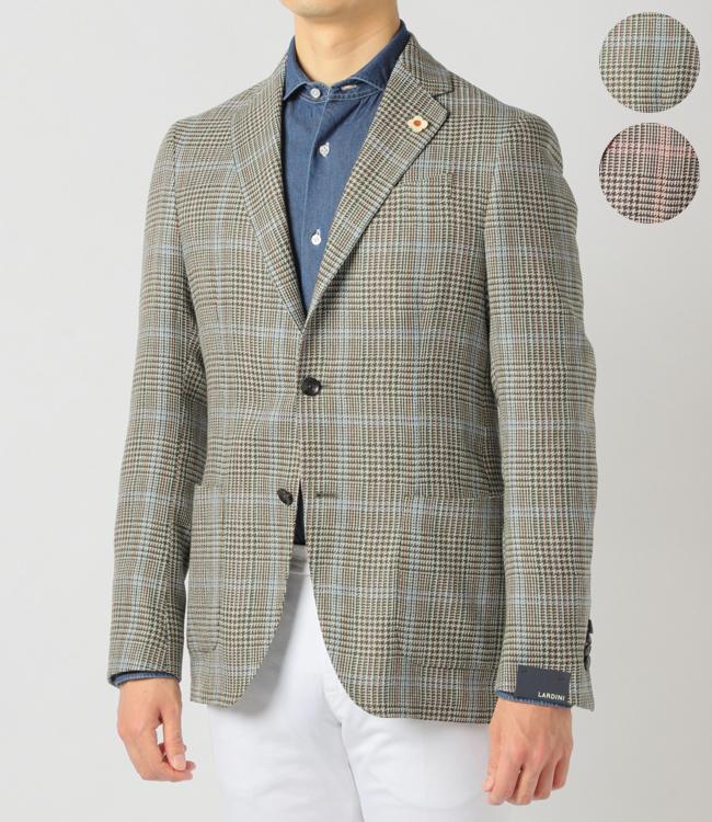 ラルディーニ/LARDINI ジャケット メンズ EASY テーラードジャケット 2019年春夏新作 アンコン ウール×リネン×シルク オーバーペーン EG903AV-52532
