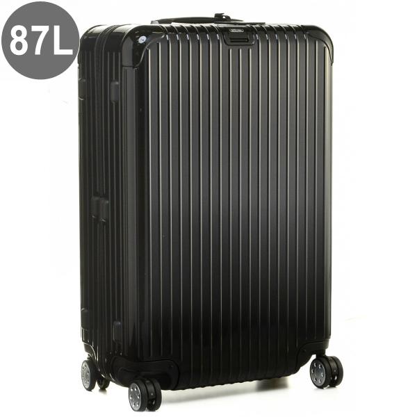 リモワ/RIMOWA キャリーバッグ メンズ SALSA DELUXE ELECTRONIC TAG(エレクトロニックタグ) 87L スーツケース ブラック 83173505-0001-0001
