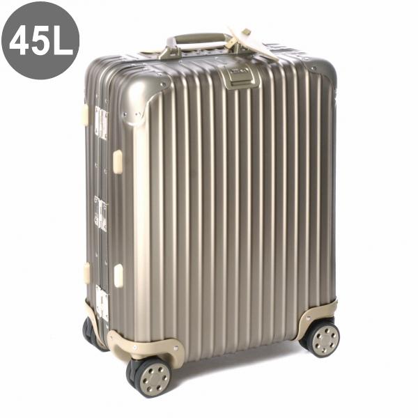 リモワ/RIMOWA キャリーバッグ メンズ TOPAS TITANIUM スーツケース 45L シャンパンゴールド 94556 92356034-0002-0014