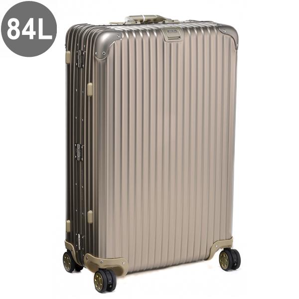 リモワ/RIMOWA キャリーバッグ メンズ TOPAS TITANIUM スーツケース 84L シャンパンゴールド 94573 92373034-0002-0014
