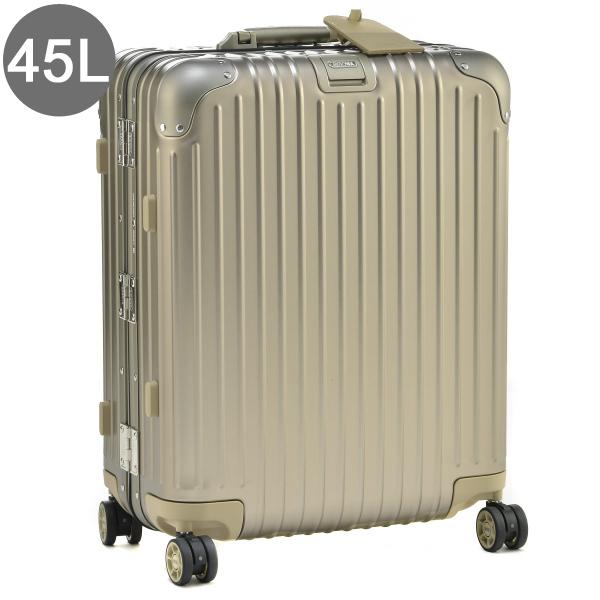 リモワ/RIMOWA キャリーバッグ メンズ TOPAS TITANIUM スーツケース 45L シャンパンゴールド 92456034-0002-0014