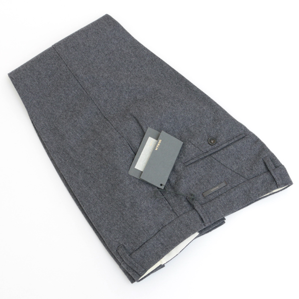 【秋冬】シビリア/SIVIGLIA パンツ メンズ ウールスラックス チャコールグレー BDH2-S810-8704
