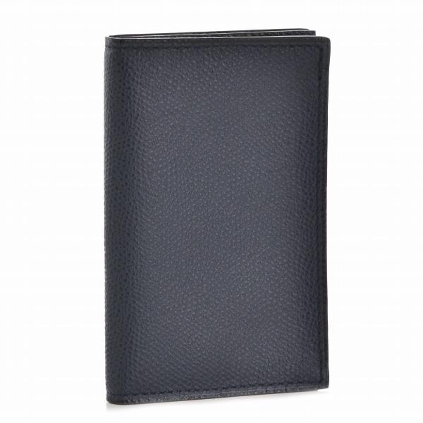 ヴァレクストラ/VALEXTRA カードケース メンズ カーフスキン カードケース ダークネイビー V8L03-028-000U