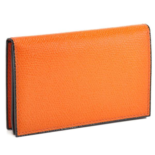 ヴァレクストラ/VALEXTRA カードケース メンズ グレインレザー 名刺入れ オレンジ V8L03-028-00AR