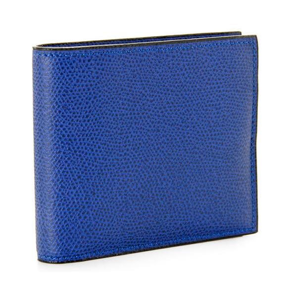 ヴァレクストラ/VALEXTRA 財布 メンズ グレインレザー 2つ折り財布 ロイヤルブルー V8L04-028-00RO