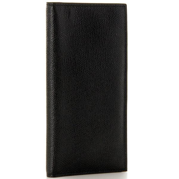ヴァレクストラ 2つ折り長財布 VALEXTRA 財布 メンズ グレインレザー ブラック 2019年春夏新作 V8L21-028-000N