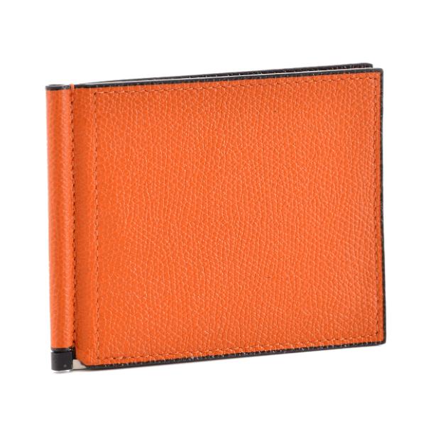 ヴァレクストラ/VALEXTRA 財布 メンズ カーフスキン 2つ折り財布 ARANCIO V0L80-028-ARANRD【スマートウォレット】