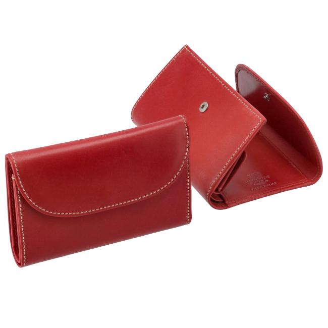 ホワイトハウスコックス/WHITEHOUSE COX 財布 メンズ ブライドルレザー 3つ折り財布 RED S1112-SC-0004 2020年秋冬