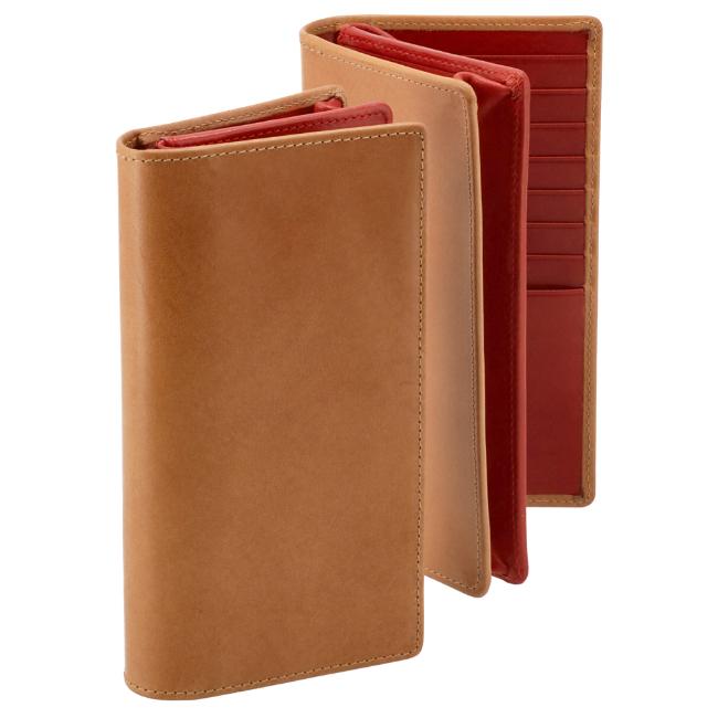 ホワイトハウスコックス 賜物 メンズ 二つ折り長財布 NATURAL 大放出セール RED S1814-SC-0022 COX 財布 サドルレザー WHITEHOUSE