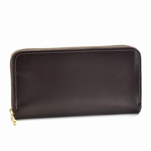 ホワイトハウスコックス/WHITEHOUSE COX 財布 メンズ ブライドルレザー ラウンドファスナー長財布 ブラウン S26226-SC-0006