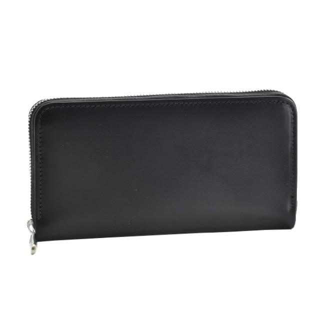 ホワイトハウスコックス/WHITEHOUSE COX 財布 メンズ ブライドルレザー ラウンドファスナー長財布 ブラック S2722-SC-0001