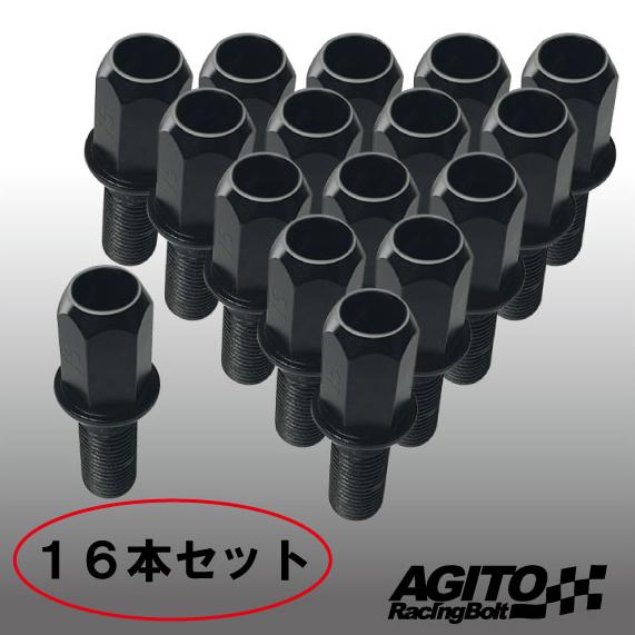 16個セット☆アギト レーシングボルト 17HEX M12xP1.25 首下28mm 60°テーパー座