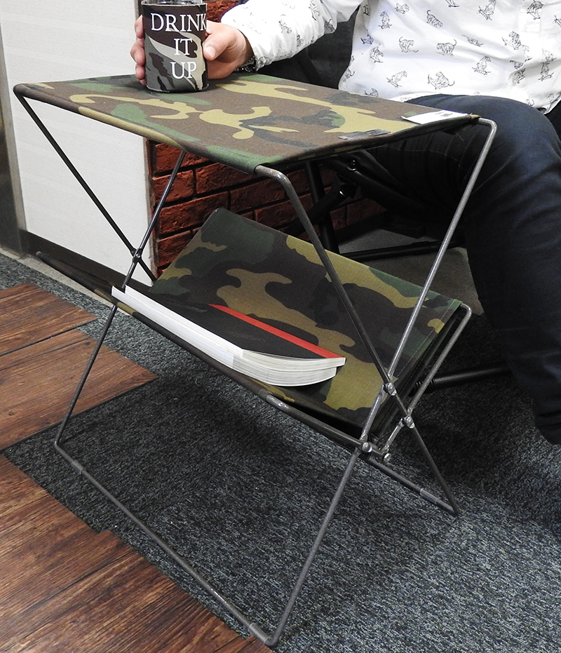 With The Folding Side Table Mip 91cm Camouflage Magic Tape Fold It Is Possible Magazine Rack Military Army Bbq Barbecue Desk