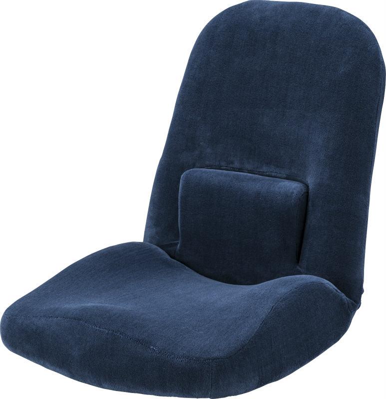 腰サポートリクライナー RKC-172NV 腰伸び座椅子 14段階 リクライニング ボリューム腰ラク座椅子 ランバーサポート付き 腰痛 座布団 コンパクト 腰に優しい おしゃれ インテリア 家具 新生活 一人暮らし