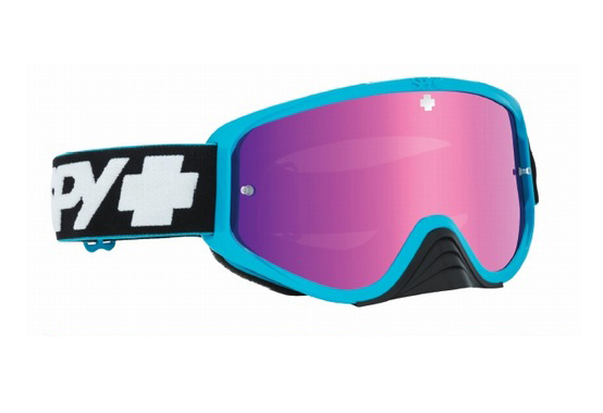 SPY スパイ WOOT RACE SLICE BLUE - SMOKE W/PINK SPECTRA + CLEAR AFP /ゴーグル モトクロス バイク スノーボード スキー スノボ レンズ ストラップ サングラス アイウェア おしゃれ ブランド ヘルメット シールド mxゴーグル