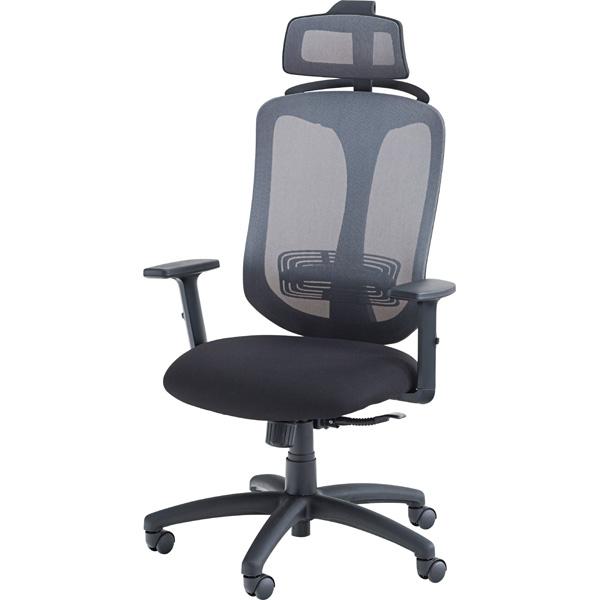 オフィスチェア OFC-32BK ブラック 事務 椅子 イス 書斎 W69×D66×H115~131×SH43~53