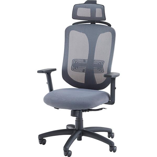 オフィスチェア OFC-32GY グレー 事務 椅子 イス 書斎 W69×D66×H115~131×SH43~53