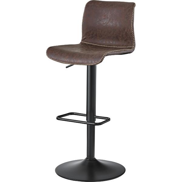 カウンターチェア PC-254BR ブラウン 椅子 レザー スチール ソフトレザー イス ハイスツール