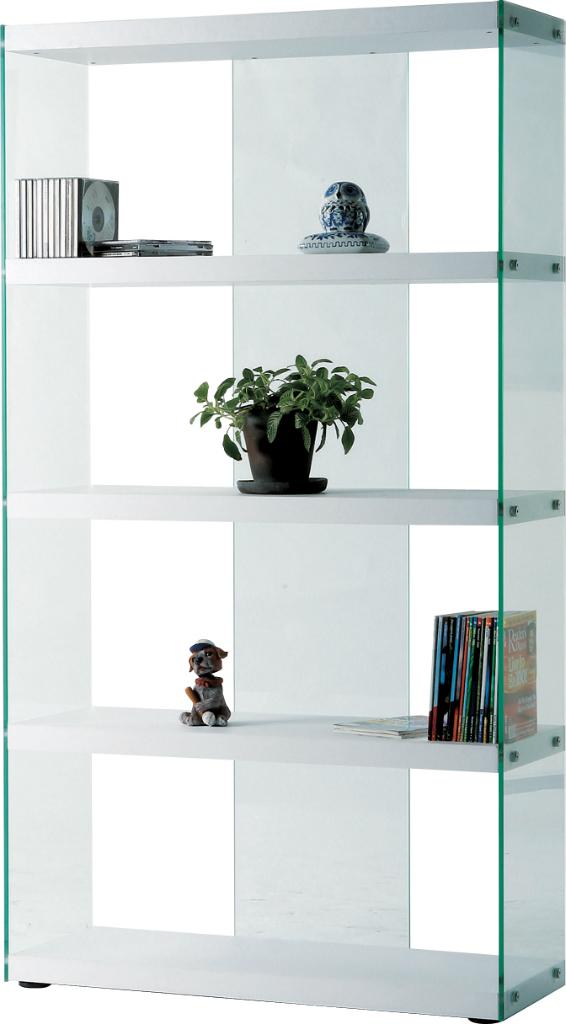 グラスシェルフ hab-624wh 棚 ラック オープンラック ディスプレイラック 収納 リビング 収納棚 本棚 キャビネット チェスト アメリカン 北欧 ビンテージ アンティーク 天然木 ナチュラル 木製 スチール ガラス おしゃれ インテリア 家具 新生活 一人暮らし