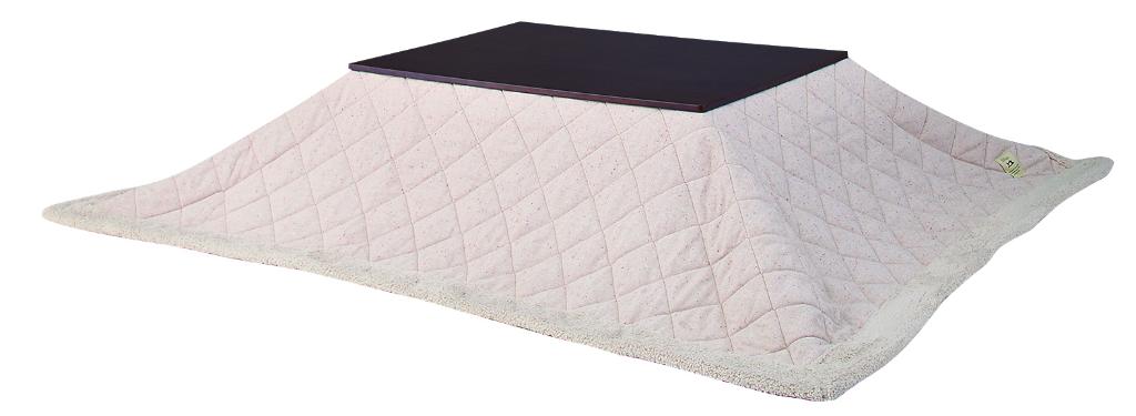 送料無料 長方形 こたつ布団 天板サイズ120×80以下適用 表地はナチュラル ツイード生地 裏地はふかふか ボア仕様 KK-102BE ベージュ ベーシックで シンプル どんなコタツにも組み合わせしやすいデザイン 薄掛コタツ布団 掛ふとん 掛け布団 カバー