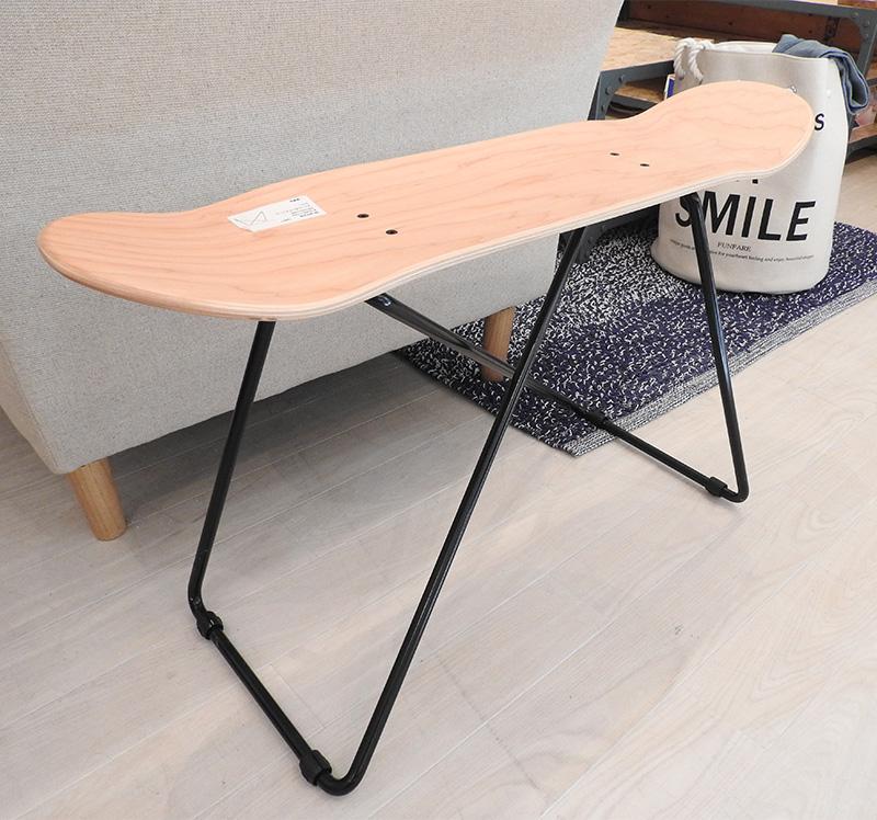スケートボードテーブル sf-201na 本物 スケボーデッキ スケボーの板 テーブル センターテーブル 机 リビングテーブル ローテーブル 西海岸 カリフォルニア スケボー おしゃれ インテリア 家具 新生活 一人暮らし