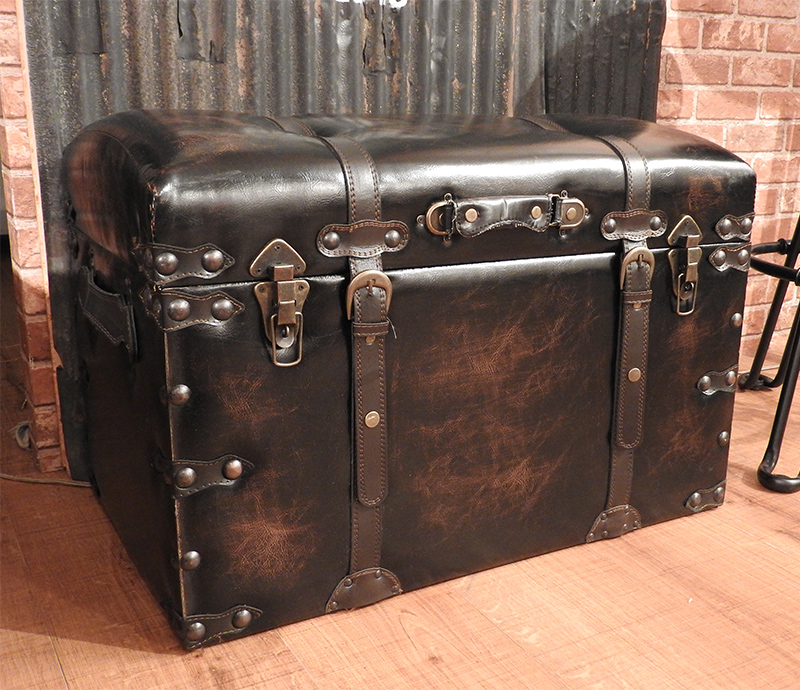 Trunk Set Iw 876 Storing Box Stool Ottoman Toy Box Treasure Chest Chair  Chair Clothes Case Leather Stylish Interior Furniture New Life Single Life