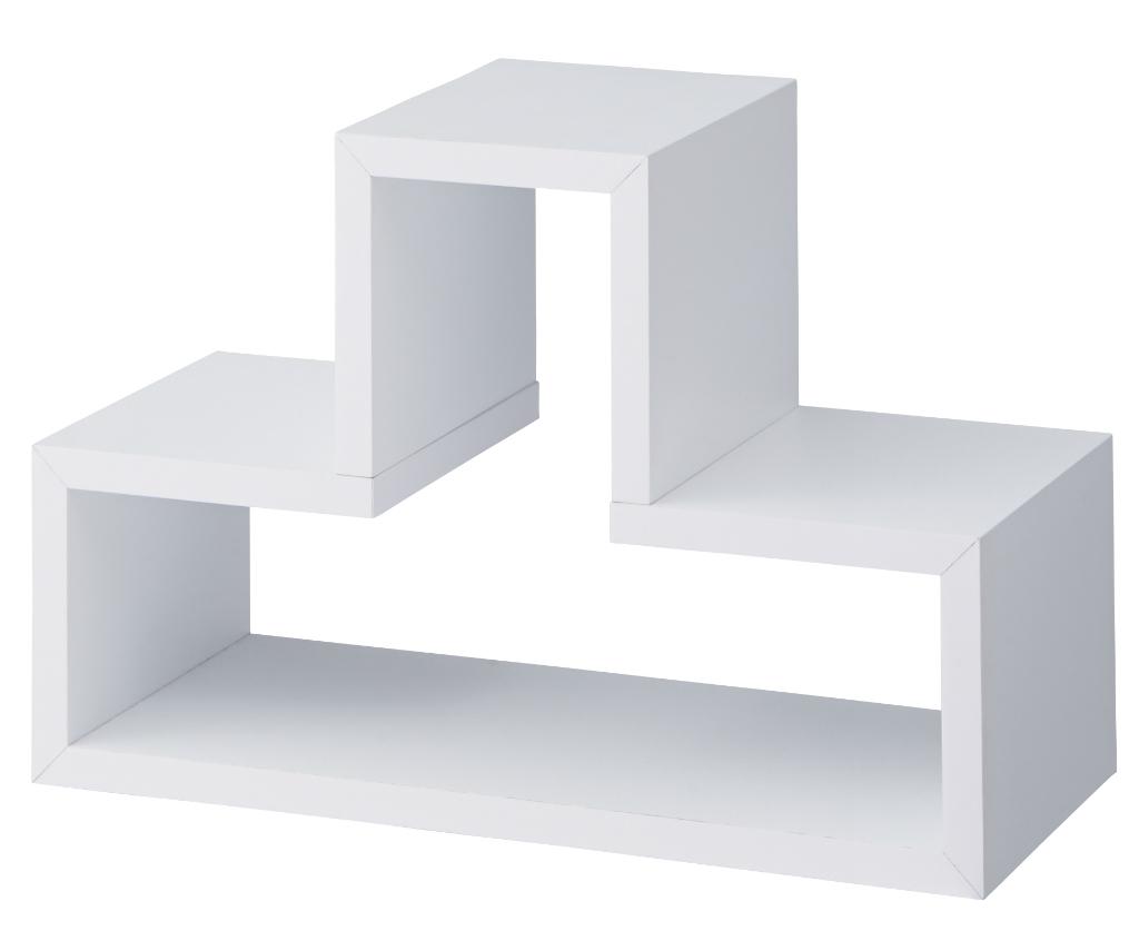 デコボコ ラック トツゾー nws-559wh ホワイト 白 凸凹 おしゃれ インテリア 家具 新生活 一人暮らし