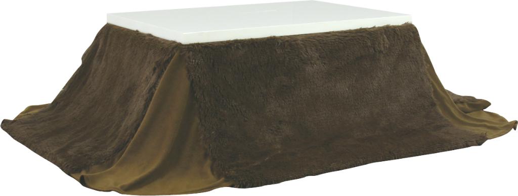 省スペース こたつ布団 長方形 kk-520br ブラウン 茶色 W190×D230cm 天板サイズ120×80 120cm幅 薄掛コタツ布団 楕円形 対応 掛ふとん 上掛け こたつ コタツ 炬燵