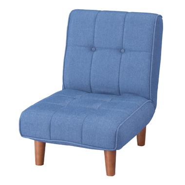 フロアソファ rkc-937dm デニム 座椅子 フロアチェア リクライニング 座イス 座いす チェア チェアー ゆったり ハイバック ローソファー 一人掛け ふわふわ コタツ こたつ 座布団 椅子 脚付き