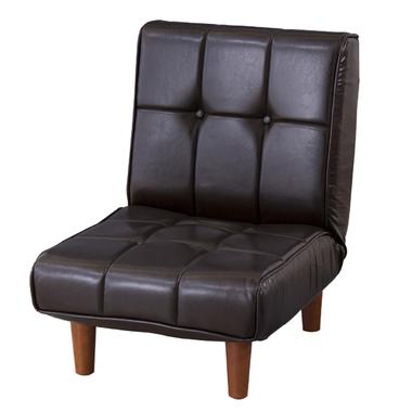 フロアソファ RKC-937LBR レザー ブラウン 座椅子 フロアチェア リクライニング 座イス 座いす チェア チェアー ゆったり ハイバック ローソファー 一人掛け ふわふわ コタツ こたつ 座布団 椅子 脚付き