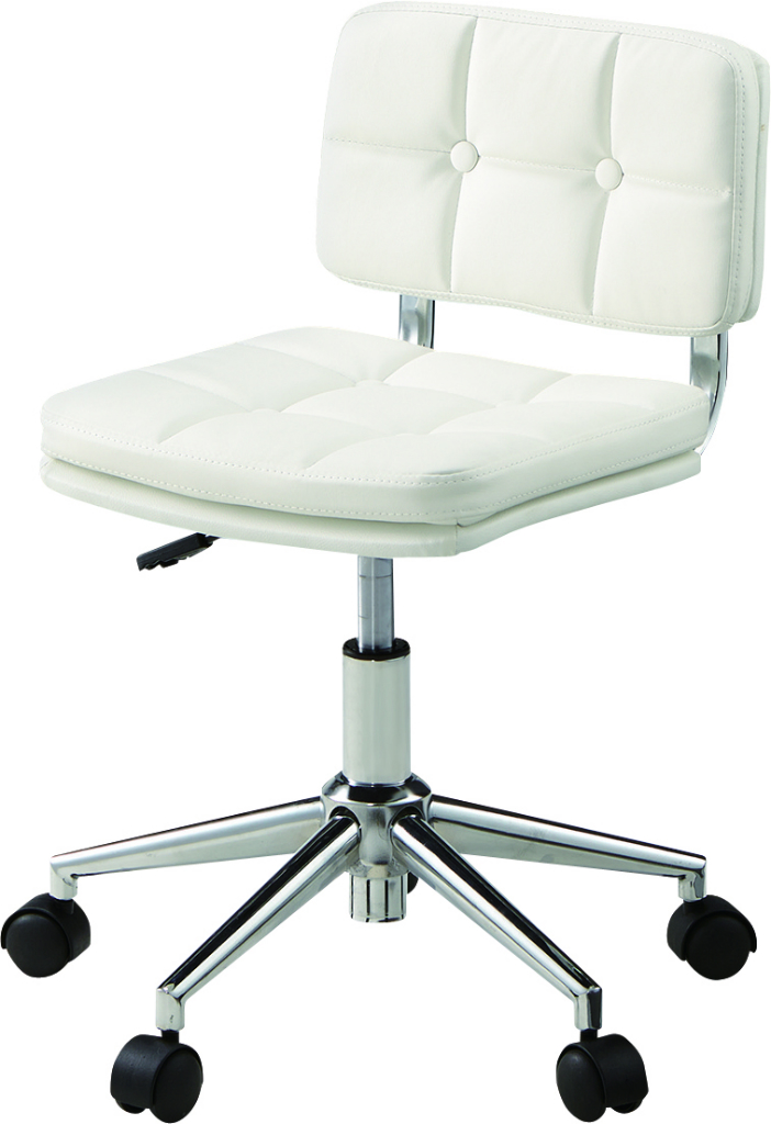 デスクチェア rkc-301wh オフィス イス 椅子 テーブル 事務所 車輪 ホワイト 白 おしゃれ インテリア 家具 新生活 一人暮らし