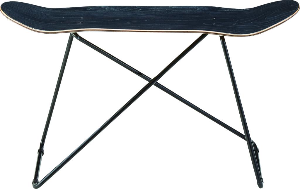 スケートボードテーブル sf-201bk 本物 スケボーデッキ スケボーの板 テーブル センターテーブル 机 リビングテーブル ローテーブル 西海岸 カリフォルニア スケボー おしゃれ インテリア 家具 新生活 一人暮らし