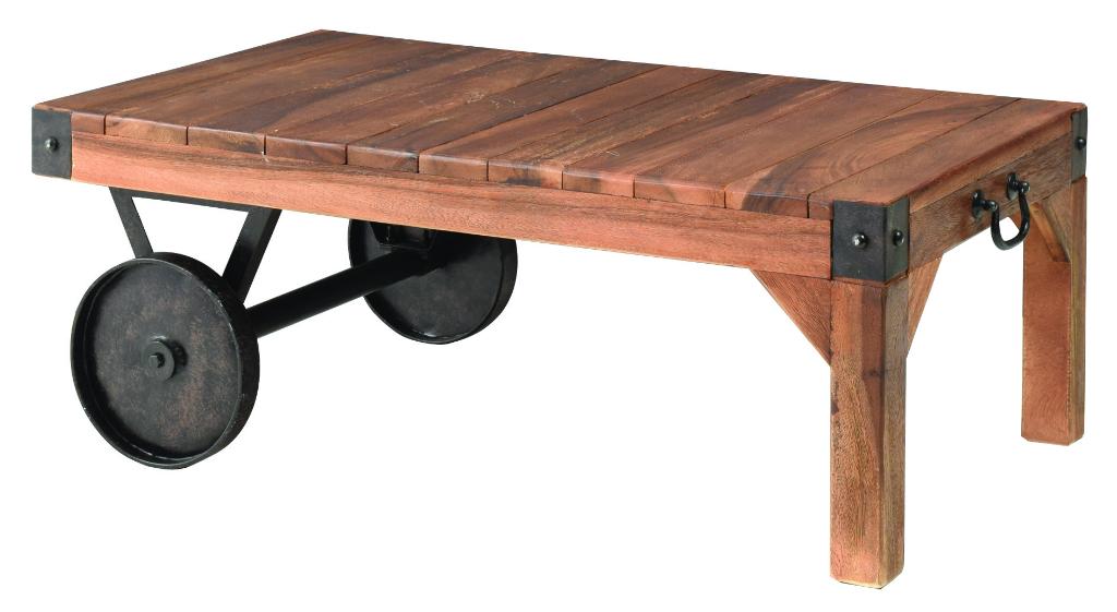 トロリーテーブルS ttf-117 センターテーブル 机 リビングテーブル ローテーブル アメリカン 北欧 ビンテージ アンティーク 天然木 コーヒーテーブル ナチュラル カフェテーブル ソファ 木製 お洒落 西海岸 おしゃれ インテリア 家具 新生活 一人暮らし