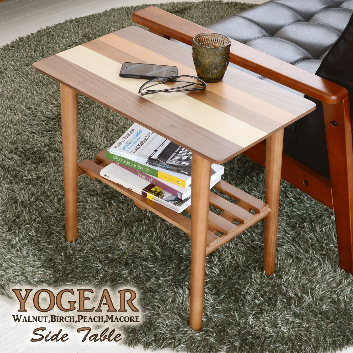 サイドテーブル 北欧 木製サイドテーブル 木製 テーブル リビングテーブル センターテーブル ローテーブル ウォールナット 天然木 おしゃれ 可愛い