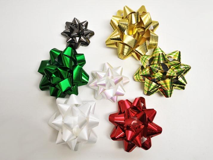 Agogonus rakuten global market deluxe gift bows for gift ribbon deluxe gift bows for gift ribbon 50 set assorted wrapping glitter craft art flower red negle Images