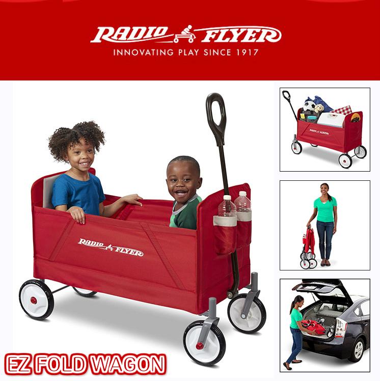 RADIO FLYER 大型 折りたたみ ワゴン アウトドアにも大活躍 キャリーカート 荷台 牽引 台車 キャリーワゴン ラジオフライヤー 乗り物 3956A 3956 キャンプ BBQ おもちゃ箱 ワゴンカート