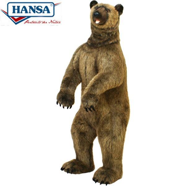 HANSA 3626 ハイイログマ140 全長:140cm GRIZZLY BEAR BH3626 ぬいぐるみ ハンサ クリスマス 誕生日 プレゼント 動物 犬 猫 鳥 うさぎ ペンギン アニマル 置物 人形 フィギュア KOESEN ケーセン カロラータ 大きい マスコット 実物大 大型