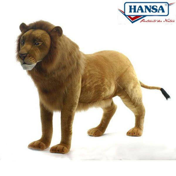 HANSA 4317 ライオン(オス)180 全長:180cm STANDING LION BH4317 ぬいぐるみ ハンサ クリスマス 誕生日 プレゼント 動物 犬 猫 鳥 うさぎ ペンギン アニマル 置物 人形 フィギュア KOESEN ケーセン カロラータ 大きい マスコット 実物大 大型
